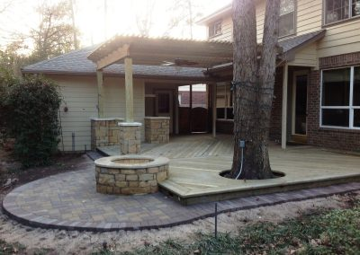 Pressure_Treated_Pergola___Deck_with_Natural_Chopped_Stone_Post_Wraps___Outdoor_Kitchen