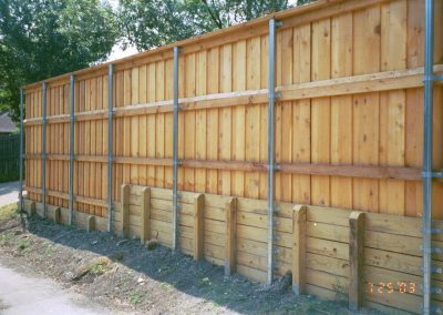 woodwallfence